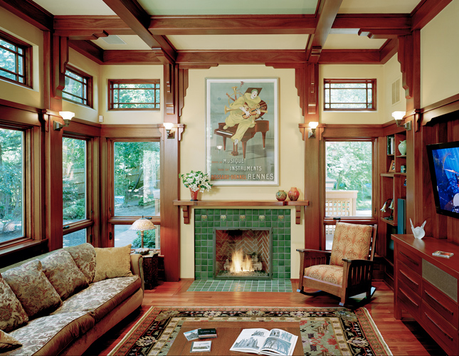 Family Room Additions Using Arts And Crafts Style By