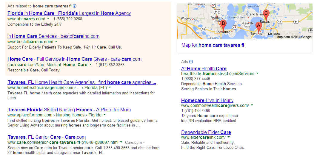 home care tavares FL google