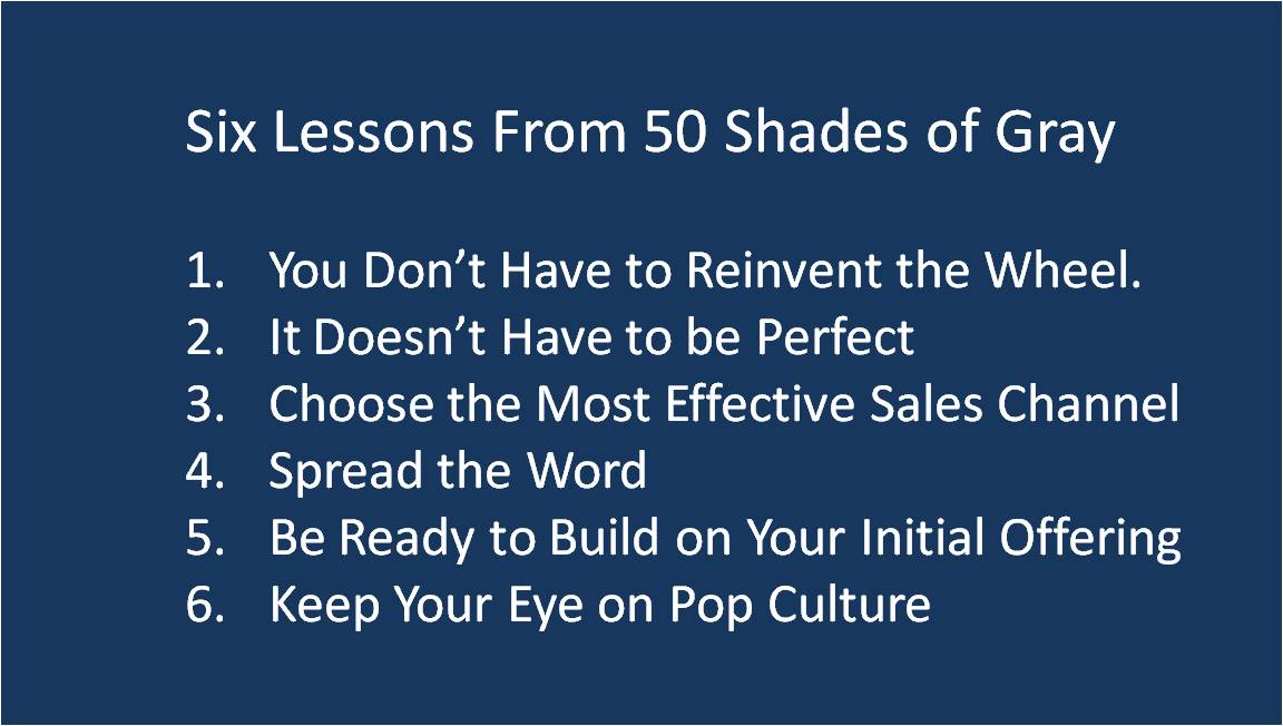 Six Lessons from Fifty Shades of Gray