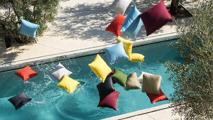 coussins piscine colour unopiu