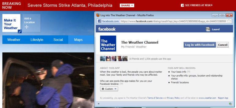 breaking now alerts the waether channel weather.com my friends weather travelers insurance