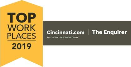 The Cincinnati Enquirer Names Emerge A Winner of the Cincinnati Top Workplaces 2019 Award