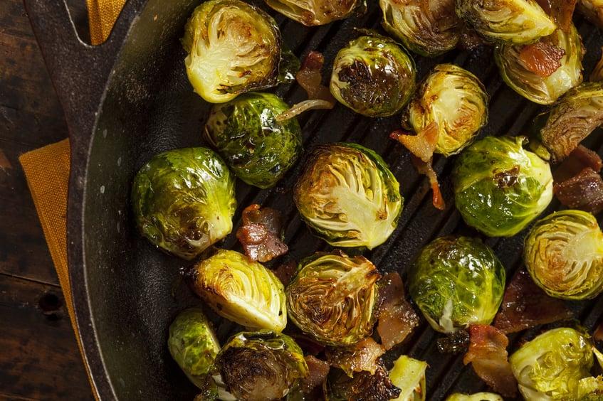 Wild Boar Bacon & Brussel Sprouts