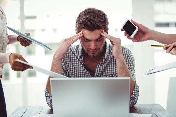 Chef d'entreprise stressé