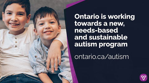 Ontario to Implement Needs-Based Autism Program In-Line with Advisory Panel's Advice