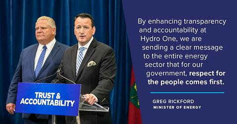 Minister's Statement Regarding Hydro One