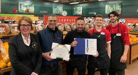 MPP McKenna Presents Longo's Fairview with Foodland Ontario Retailer Award for Local Food Promotion