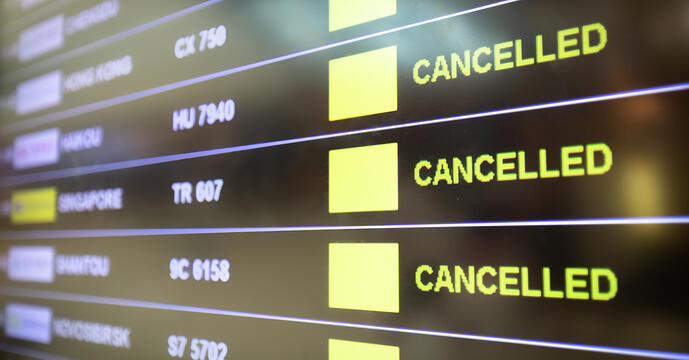 COVID-19 Flights cancelled