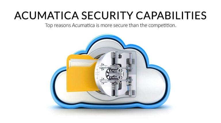 Acumatica Security Capabilities