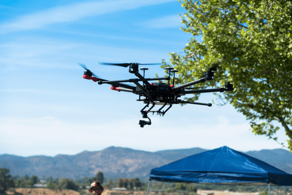 A DJI M600 Pro on duty for C2 Group during a long-term project on the Tribal Lands of the Soboba Band of Luiseño Indians. Image courtesy of C2 Group.