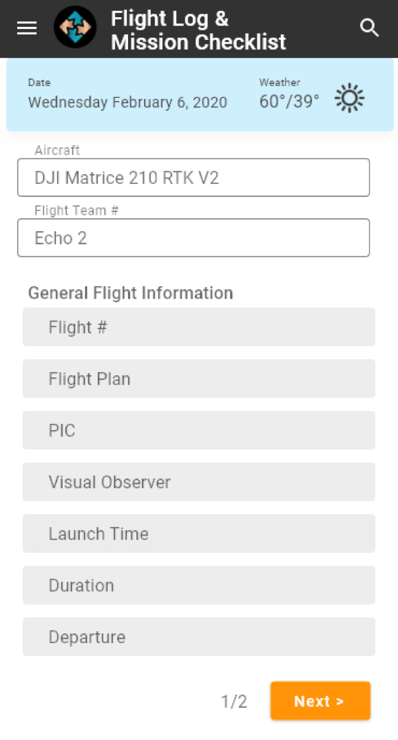 A screen capture from C2's app, which tracks every single flight the firm carries out.