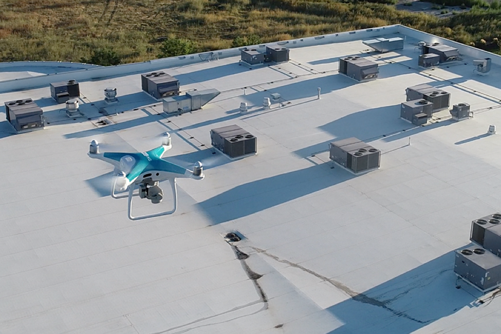Drones for roofing