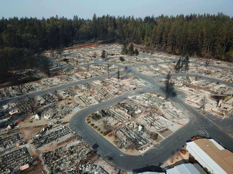 Drones were used to map towns after Camp Fire