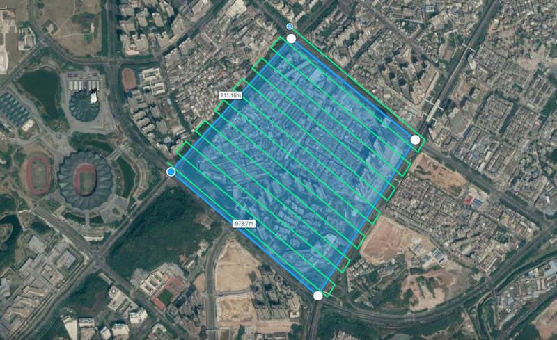 Drone photogrammetry flight planning