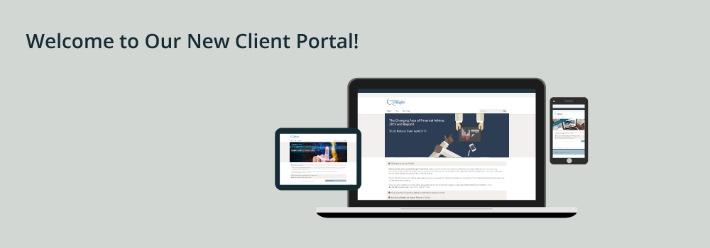 Welcome to our new client portal!