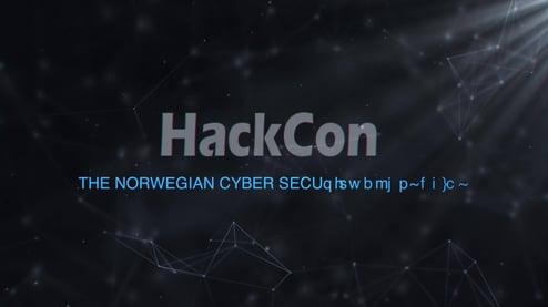 Illustrasjonsbilde med HackCon logo.