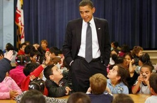 President Obama with Elementary School Children/Photo Credit/Reuters