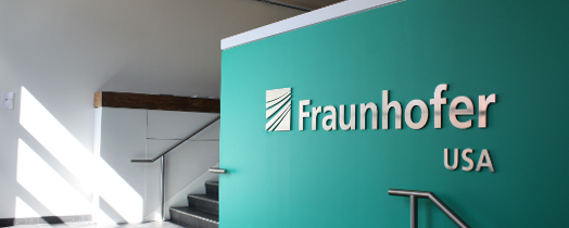 The entrance of Fraunhofer CSE's Building Technology Showcase building.