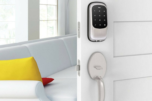 smart lock integrated into home automation system
