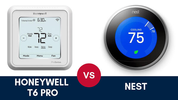 Honeywell T6 Pro vs Nest