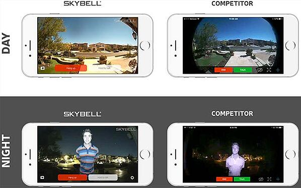 SkyBell day and night video quality comparison