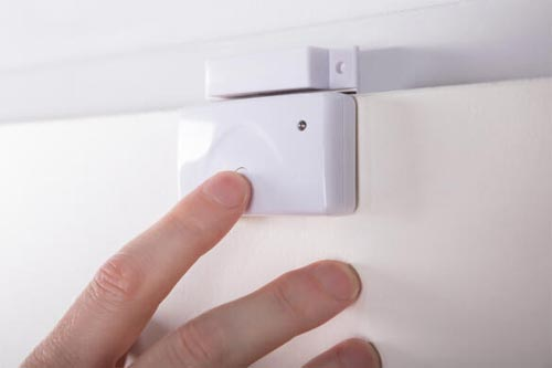 alarm system door sensor installation