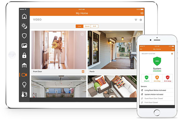 App to view your home security cameras