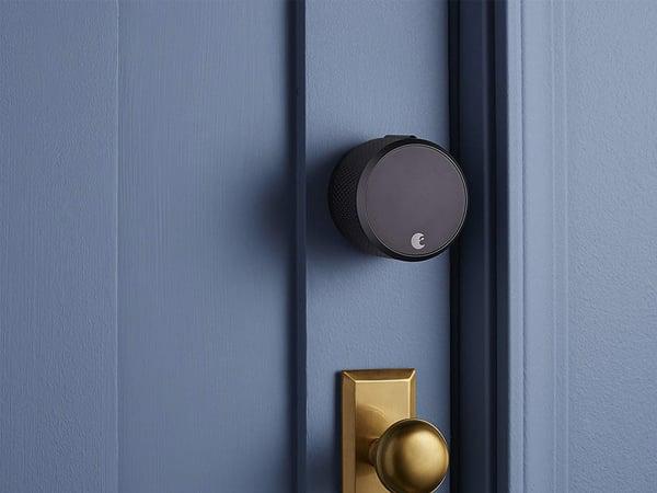 august-smart-lock-on-door