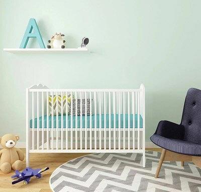 indoor security camera in baby's room