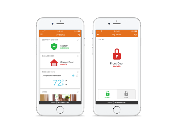 smart home provides status updates on basic home security