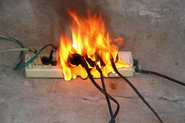 plugs-catching-on-fire