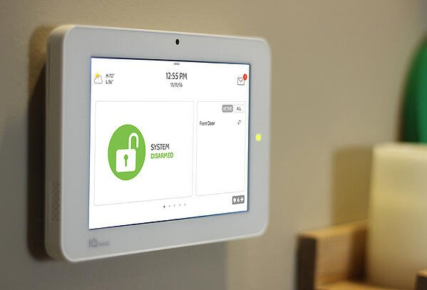 qolsys-iq-panel-wall with smart technology for home automation