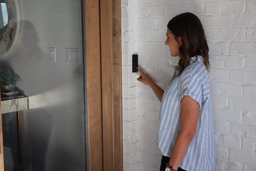 skybell camera doorbell captures video of anyone at your door