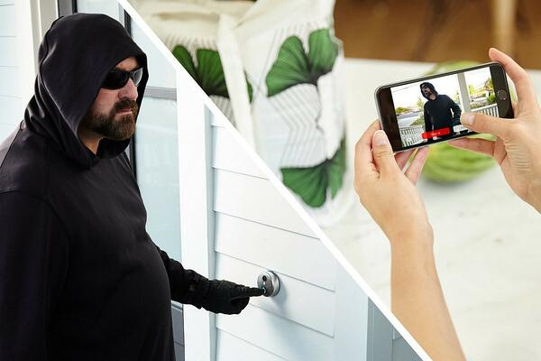 skybell and burglar