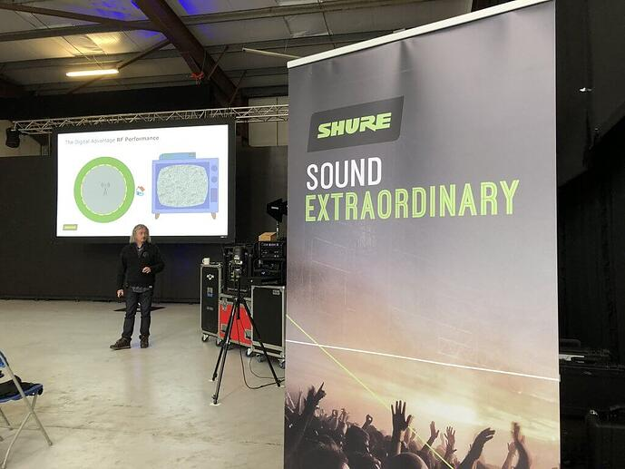 SHURE Wireless Mastered, Live Events training at AVCOM