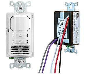Adaptive Dual Tech Wall Switch Sensor with 0-10v Dimming