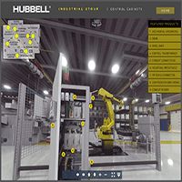 Virtual 360-Degree Industrial eTour from Hubbell Wiring Device-Kellems Immerses Users in Industrial Applications