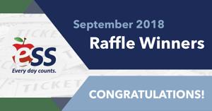 ESS Raffle Winners September 2018