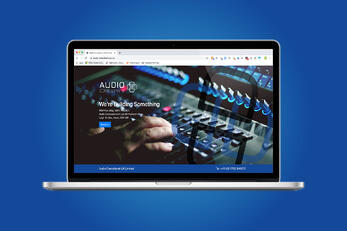 New Holding Page for Audio Consultants