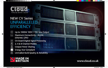 New Advert Design for Cloud CV-Series Amplifier launch