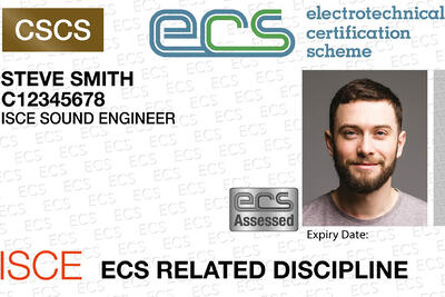 ISCE is pleased to announce its very first Sound Engineer ECS Card Health and Safety Assessment event