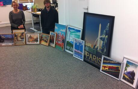 Thanks for working with us! Posters for our publishers :-D
