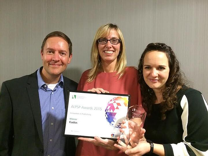 Kudos wins the ALPSP Award for Innovation in Publishing