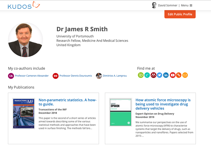 Kudos' new profile aggregator feature puts researchers in control of their online visibility