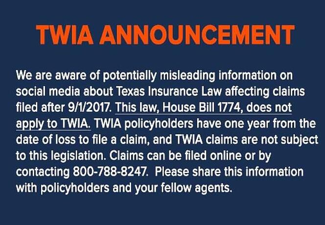 Setting the Record Straight on Claims Filing Misinformation - Hurricane Harvey