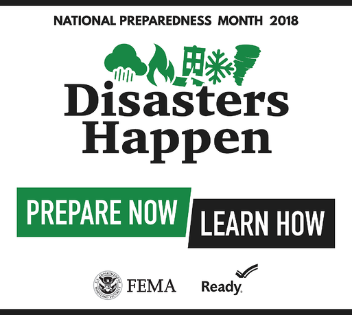 September is National Preparedness Month 2018