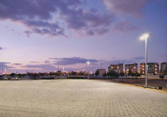 Solar Street light in Masdar