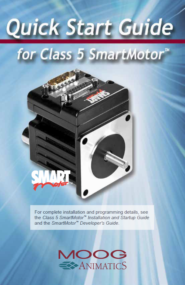Quick Start Guide for Class 5 SmartMotor