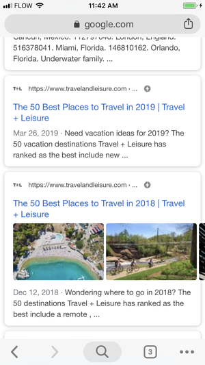 Google AMP in Mobile Search Results