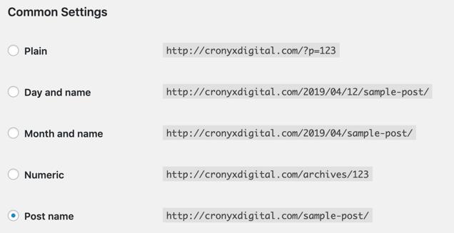 Default WordPress URLs for SEO